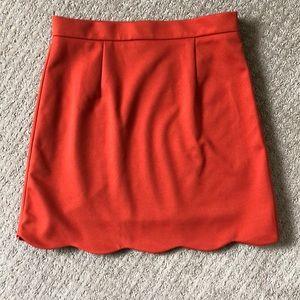 Stitch Fix Orange Scallop Skirt